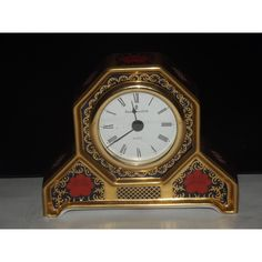 ROYAL CROWN DERBY 1st Quality Old Imari Solid Gold Band SGB Desk Clock Listing in the Royal Crown Derby,China & Porcelain,Porcelain, Pottery & Glass Category on eBid United Kingdom