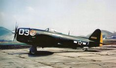 P-47 Thunderbolt used by the Brazilian Air Force in the World War II, stationed in Rio de Janeiro for defense of the Brazilian coast