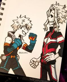 Sai ✨ в Твиттере: «#inktober day 3!!! a spar between Bakugou vs. Dad Might!! FIGHT!!… »