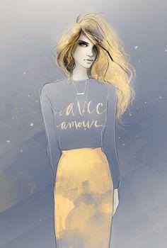50 Amazing Fashion Sketches | Cuded Fashion sketches by shadesofeleven