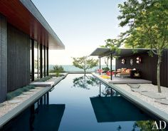 Modern Pool by Jonathan Adler and Gray Organschi Architecture in Shelter Island, New York