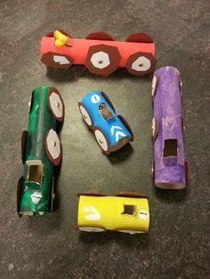 Skapande av fina bilar av toapappersrullar - Min blogg om allt mellan himmel och jord