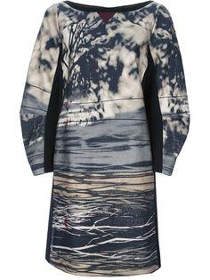 ANTONIO MARRAS Woodland Print A-Line Dress