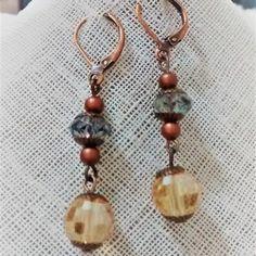 Aretes Murano Ambar Drop Earrings, Casual, Jewelry, Fashion, Stud Earrings, Moda, Jewlery, Jewerly, Fashion Styles