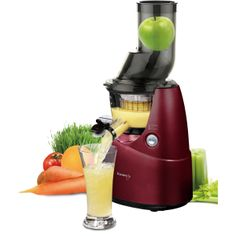 Create a rich, full-bodied juice with the Whole Slow Juicee from Kuvings. This powerful juicers comes with specialized strainers for making frozen fruit sorbet, smoothies and baby puree. Frozen Fruit, Fresh Fruit, Mixer, Carrot Juice Benefits, Juicer Reviews, Fruit Sorbet, Cold Press Juicer, Jus Detox, Juicer Machine