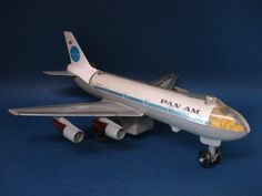 Pan Am Boeing 747 battery-operated tin toy airplane model by ALPS Japan | eBay