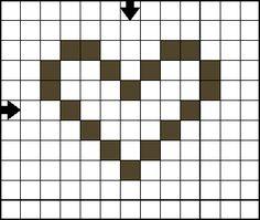 Free Cross Stitch Patterns - Holiday Mini Motif Cross Stitch Collection: Free Cross Stitch Pattern - Mini Heart C - Open Heart Cross Stitch Pattern