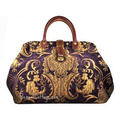 Small Victorian Carpetbag or Handbag - Bella Donna (Purple) carpet bag