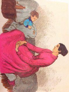 Der sad en moder hos sit lille barn, hun var så bedrøvet, så bange for at det skulle dø.