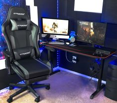 Nextraker 's new #gtracing #Gaming Set Up! 🤩#GTRacing Chair! #diy #gamingsetup  Unleash your full potential when playing #games and invest in the most worthwhile #gamingchair.😎 Gaming Setup, Gaming Chair, Playing Games, Helpful Hints, Grey, Music, Tips, Furniture, Home Decor