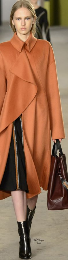 Boss Fall 2016 RTW orange coat