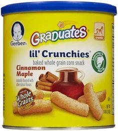 Gerber Graduates For Crawlers Lil' Crunchies Cinnamon Maple Corn Snacks, Baby Snacks, Baby Foods, Toddler Meals, Kids Meals, Toddler Food, Baby Food Recipes, Gourmet Recipes, Baby Girl Diaper Bags