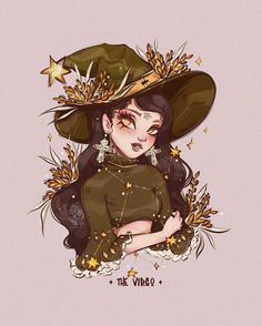 "ROY THE ART on Instagram: ""✦ Happy weekend everyone! ✦ I continue the current zodiac series with this lovely #Virgo Witchy. (23Aug-23Sept) Dark green and ancient…"" Virgo Art, Zodiac Art, Cartoon Girl Drawing, Cartoon Art, Pretty Art, Cute Art, Character Art, Character Design, Witch Drawing"
