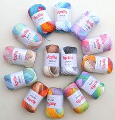 Katia Jaipur Cotton Yarn Wool w Color Gradient for Knitting Crochet Thread Knitting Wool, Double Knitting, Wool Yarn, Thread Crochet, Crochet Yarn, Blanket Yarn, Lion Brand Yarn, Acrylic Wool, Yarn Crafts