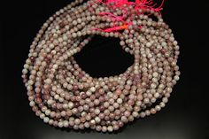 1strand  natural tourmaline faceted ball sized 6mm by 3yes on Etsy