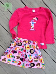 Super Hero Girls Lucy Skirt & Matching Long by thegreenelephantco, $34.00