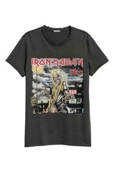 3d3d402914a T-shirt en jersey de coton - Gris foncé Iron Maiden - HOMME