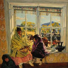 Walter Ufer - Luzanna and Her Sisters, 1920    Baltimore Art Museum