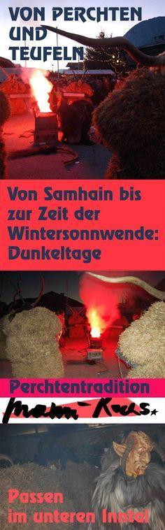 Von Samhain bis zur Wintersonnenwende: die Dunkeltag mit Teufeln, Perchten und Passen im unteren Inntal
