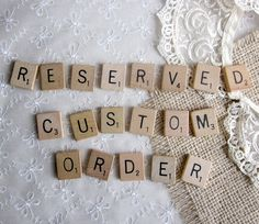 Good idea to use scrabble letters for something