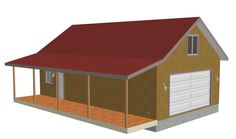 Garage on pinterest detached garage garages and garage 24 x 28 garage plans free