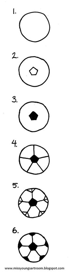 How to draw a soccer ball⚽