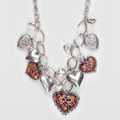 FULL TILT Cheetah Heart Necklace 182204140 | necklaces | Tillys.com - StyleSays