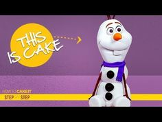 How To Make Olaf from Frozen out of Cake Edible Creations, Cake Creations, Simple Syrup Bottle, Camping Cakes, Olaf Cake, Buttercream Recipe, Crazy Cakes, Olaf Frozen, Novelty Cakes