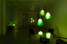 micro algae could be the renewable resource we've been looking for.  architect jacob douenias and industrial designer ethan frier have created an installation called 'living things', where furniture cultivates a symbiotic environment between people and microorganisms