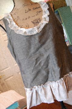Charcoal Grey Sleeveless Top Tank Womens by OfLinenandLace on Etsy, $38.50