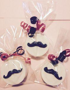 Chocolate covered Mustache Oreos