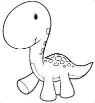 Colorear dibujo Dinosaurio bebé