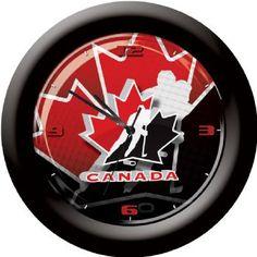 Hockey Canada - Wall Clock Canada Wall, Stocking Stuffers, Hockey, Clock, Gifts, Watch, Presents, Little Gifts, Gifs
