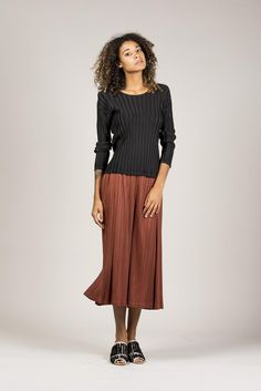 Long Sleeve Tee, Black by Pleats Please by Issey Miyake @ Kick Pleat - 9