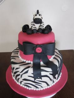 Ms. Cakes: Zebra Baby Shower Cake this is it!!! This already has my niece's name all over it!