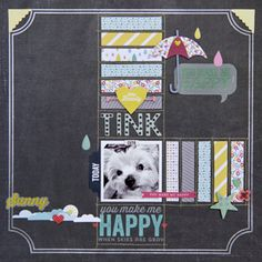 Fun layout using the fabulously happy Hello Sunshine collection from Pink Paislee.