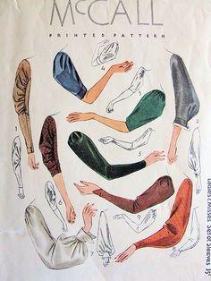 Fabulous 1930s Art Deco Style Sleeve Pattern