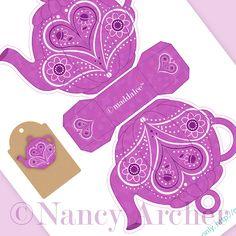 Nancy Archer, Art, DIY Free Printables, Kid Crafts, Party Decor, Notecards, DIY Journals, Felt Toys: April/Mother's Day Teapot download for ...