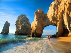 Los Cabos is a lively 20 mile beach area at the southern tip of the Baja California peninsula. The white sandy beaches backed by sophisticated resorts, restaurants, bars and other attractions run from spring break destination Cabo San Lucas down to the quieter San José del Cabo.
