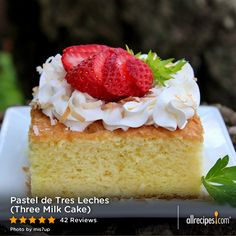 "Pastel de Tres Leches (Three Milk Cake) | ""This is THE Tres Leches Cake recipe to use! Easy to make and so delicious! Better than any I've had at restaurants!"" -TWINMOMLOVESFOOD"