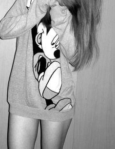 Big Disney sweatshirt. <3