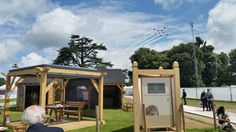 Wonderful view of the sky from our stand!