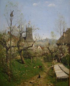 "Karl Buchholz  ""Spring in the village"" (1872)"