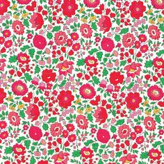 A beautiful floral print, Danjo from Liberty of London, here in the lovely pinks, red and green colourway. From the 2014 Classics