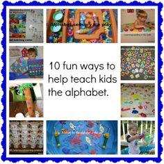 Momma's Fun World: 10 fun alphbaet learning activities to do with kids