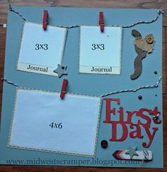 Back to school layout (right page) using CTMH Frosted paper packet. created by Midwest Scramper