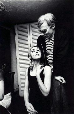 Andy Warhol and his muse, Edie Sedgwick. She was such a beauty.