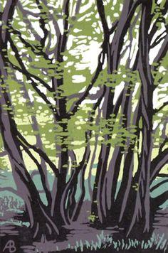 Tree Study Alexandra Buckle, linocut