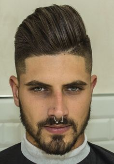 FETISH BARBER - Page 15 of 989 Piercing Implant, Septum Piercing Men, Dimple Piercing, Corte Hipster, Hair Day, My Hair, Hair And Beard Styles, Hair Styles, Slick Hairstyles