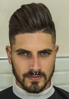 Piercing Implant, Septum Piercing Men, Dimple Piercing, Corte Hipster, Hair Day, My Hair, Hair And Beard Styles, Hair Styles, Slick Hairstyles